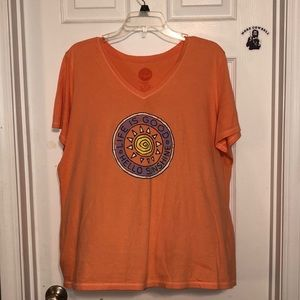 life is good v neck tee